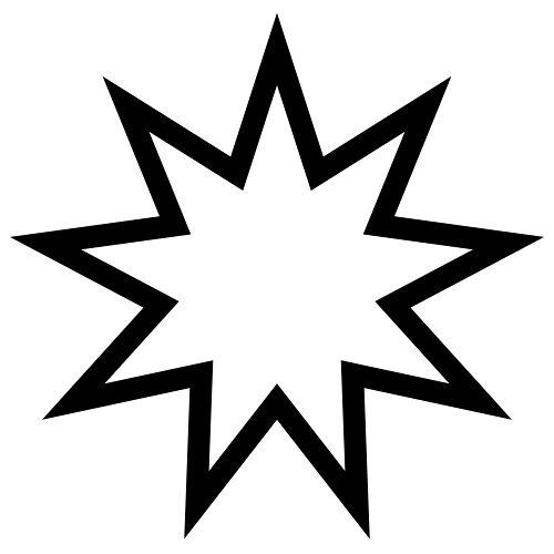 Símbolo da fé bahá'í, religião monoteísta criada por um líder religioso persa no século XIX.