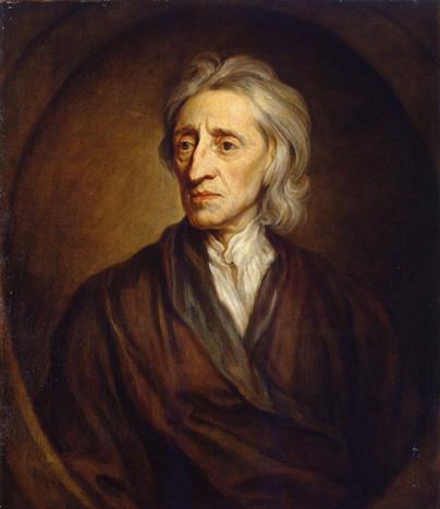 John Locke, o filósofo contratualista defensor da propriedade privada.