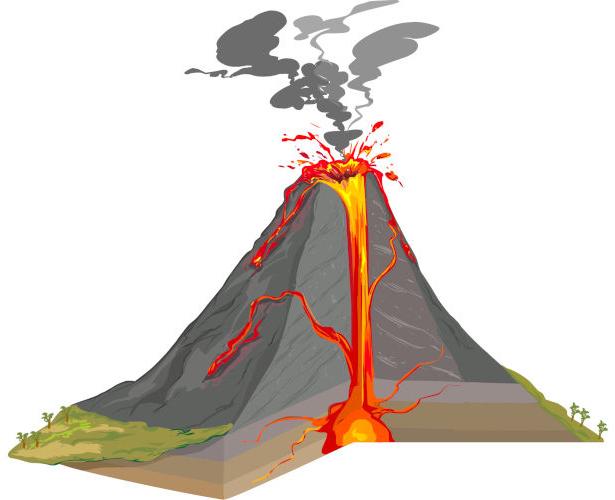 Os vulcões, apesar de suas várias formas, possuem uma estrutura comum.