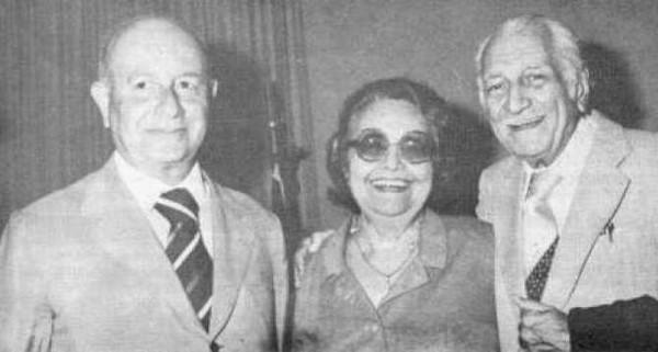 Os escritores Adonias Filho, Rachel de Queiroz e Gilberto Freyre.