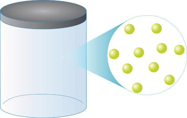 O gás ideal é formado por partículas puntiformes que colidem elasticamente entre si.