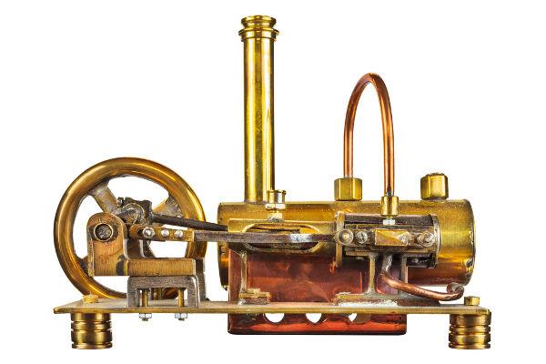 As máquinas a vapor funcionam de acordo com a Primeira Lei da Termodinâmica.