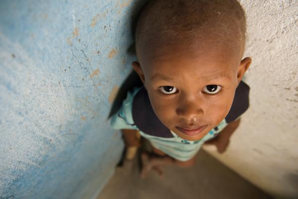 Criança quilombola do Quilombo de Trigueiros, Pernambuco.