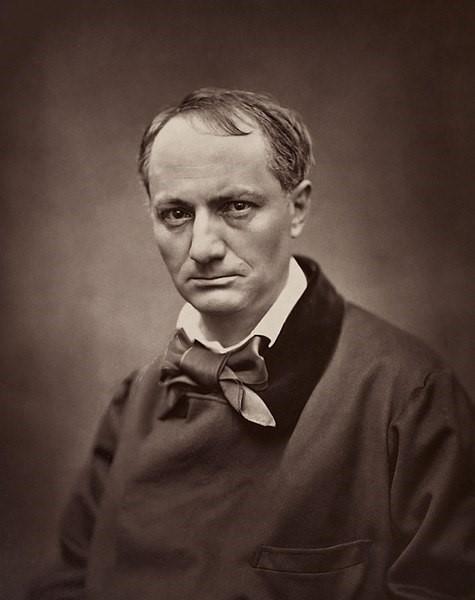 Retrato do poeta Charles Baudelaire, importante poeta simbolista.[1]