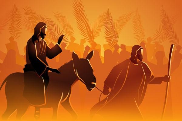A entrada triunfal de Jesus em Jerusalém marca o Domingo de Ramos, momento que inicia a Semana Santa.