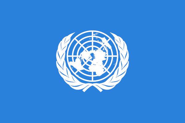 O emblema da ONU é uma projeção azimutal.