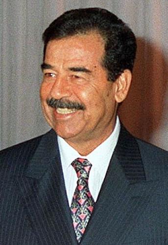Saddam Hussein, ditador do Iraque.