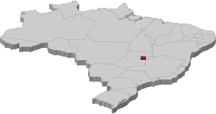 Localização atual do Distrito Federal