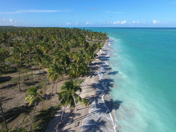 Maragogi, Alagoas. O turismo é uma importante fonte de renda no Nordeste.