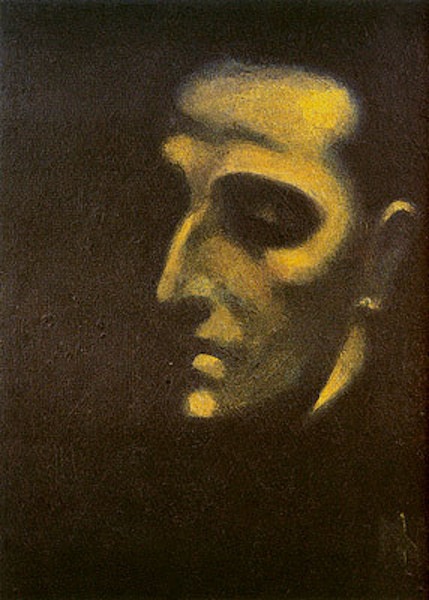 """Retrato de Murilo Mendes"" (1922), obra do pintor Ismael Nery (1900-1934)."
