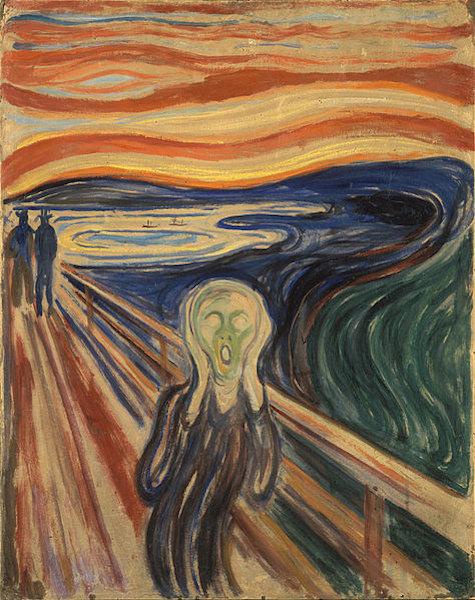 O grito, tela de Edvard Munch.