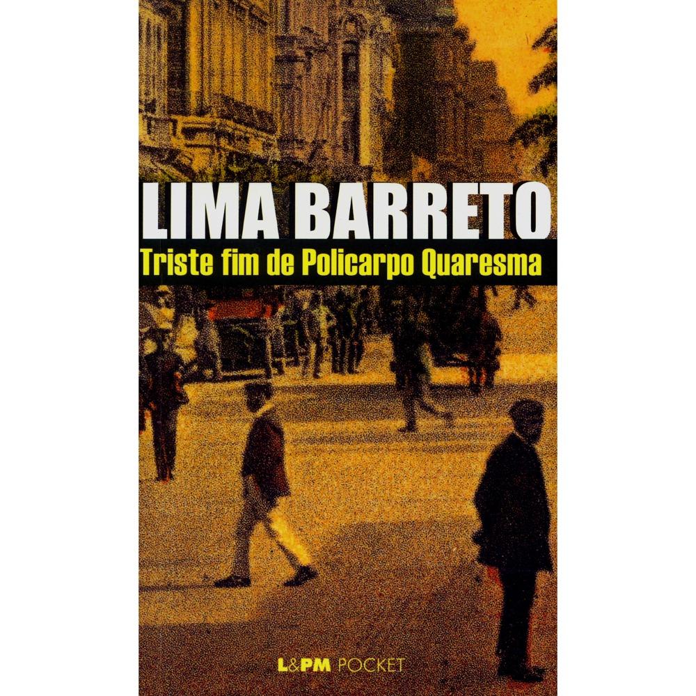Capa do livro Triste fim de Policarpo Quaresma, de Lima Barreto, romance altamente crítico ao nacionalismo ingênuo. [1]