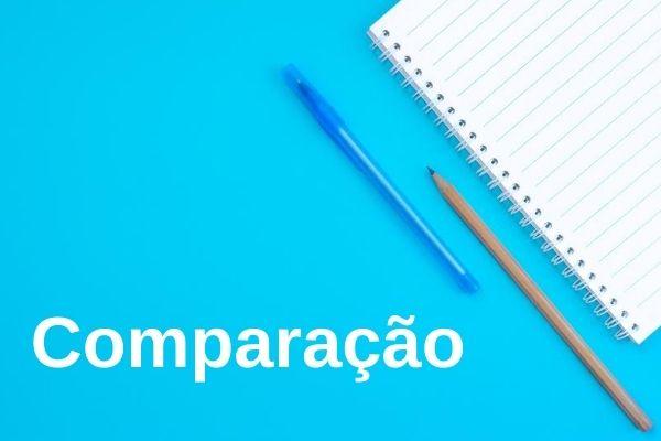 A comparação é um recurso linguístico bastante utilizado em diferentes tipos de textos.