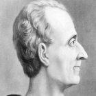 desenho representando Montesquieu