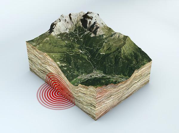 Epicentro de um terremoto.