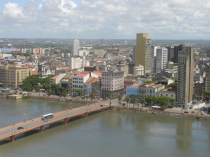 Ponte Maurício de Nassau em Recife. Nassau investiu em obras públicas, como a construção de pontes e canais, tendo como modelo a cidade de Amsterdã.