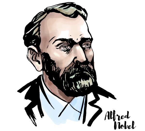 Alfred Nobel, inventor da dinamite e também o criador do Prêmio Nobel.