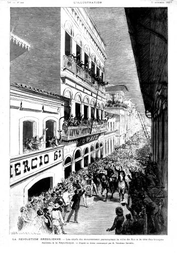 Uma das primeiras ações do golpe de 15 de novembro foi a aglomeração de tropas sob liderança de Deodoro da Fonseca no Campo do Santana.[2]