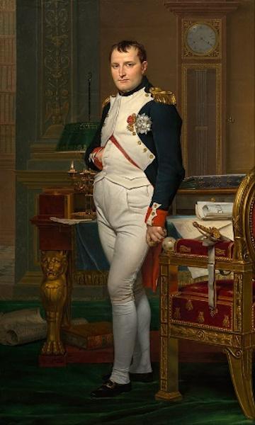 """""""O imperador Napoleão"""", obra de Jacques-Louis David (1748-1825)."""