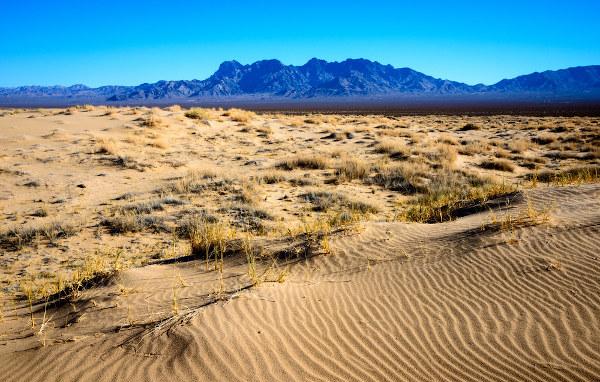 Deserto de Mojave, na Califórnia, a maior mina, a céu aberto, de bórax do mundo.