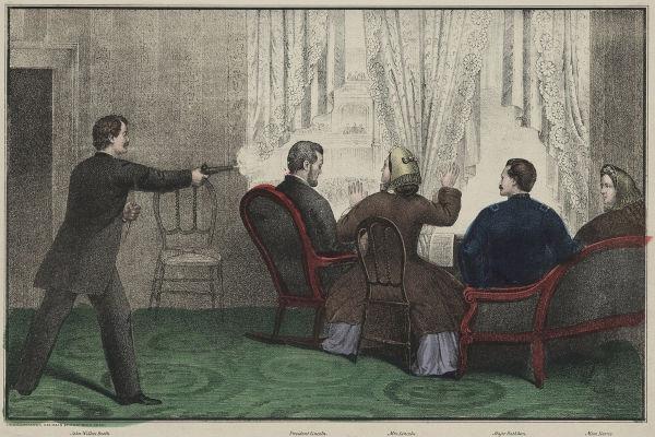 No dia 14 de abril de 1865, John Wilkes Booth cometeu o atentado que resultou no assassinato de Abraham Lincoln.