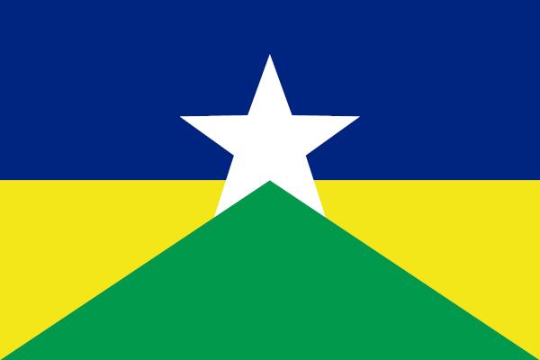 Bandeira do estado de Rondônia.