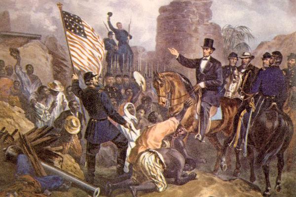 Abraham Lincoln foi o presidente dos Estados Unidos durante toda a extensão da Guerra Civil Americana (1861-1865).