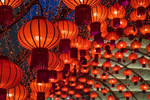 As lanternas vermelhas são uma das principais peças decorativas do Ano-Novo chinês.