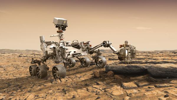 Concepção artística do rover Perseverance [1]