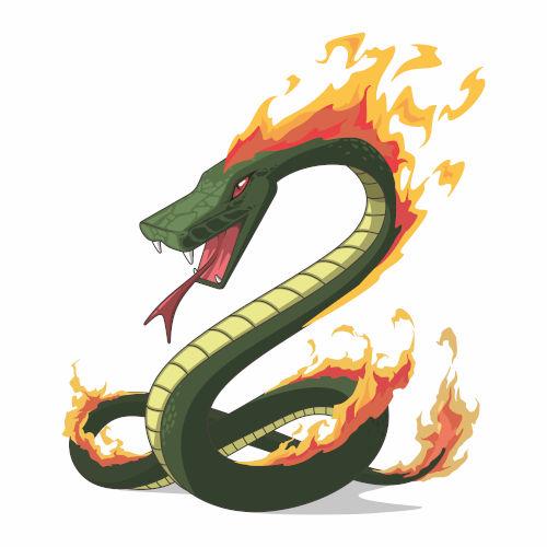 No folclore brasileiro, o boitatá é uma cobra de fogo que protege os campos dos homens que promovem incêndios criminosos.