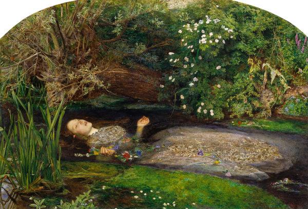 """""""Ofélia"""", obra de John Everett Millais (1829-1896)."""