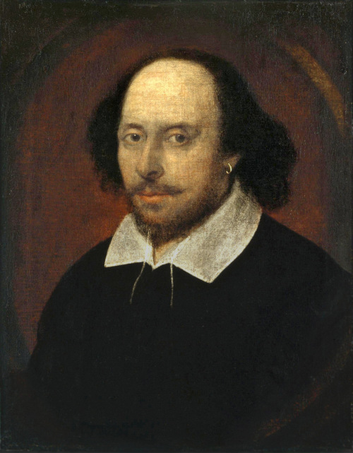 A obra Retrato de Chandos, de John Taylor (1585-1651), retrata o dramaturgo William Shakespeare.