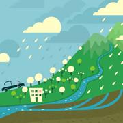 Desenho de chuva