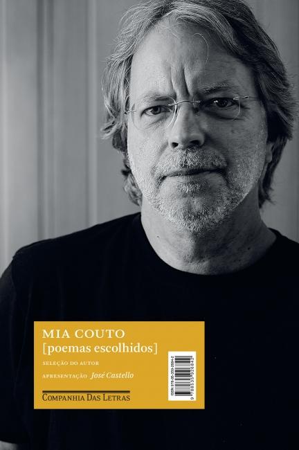 Mia Couto, na foto de capa do livro Poemas escolhidos, publicado pela editora Companhia das Letras.[1]
