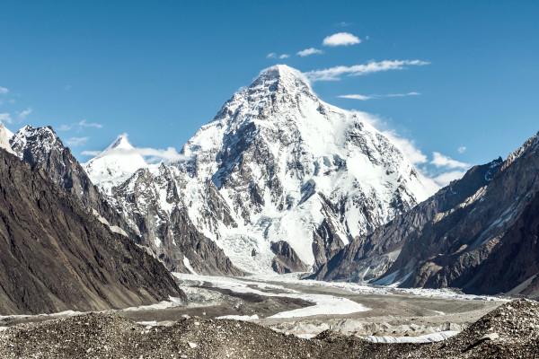 O monte Godwin-Austen (ou K2) é o segundo mais alto do mundo.