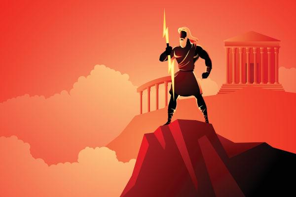 Zeus era o principal deus para os gregos e governava o Monte Olimpo.