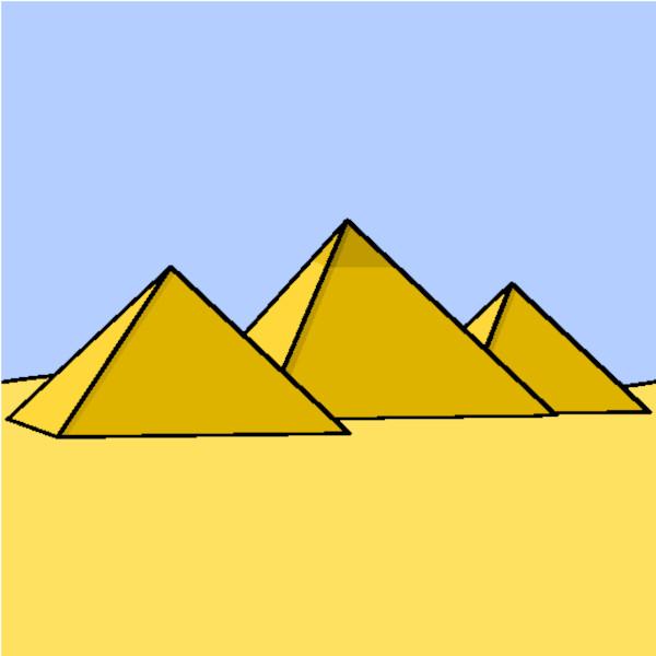 As pirâmides do Egito possuem base quadrada.