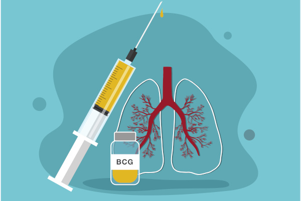 A vacina BCG protege contra a tuberculose.