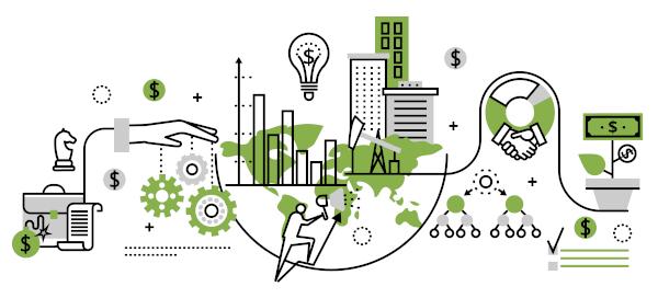 As atividades econômicas e produtivas são categorizadas em três setores da economia.
