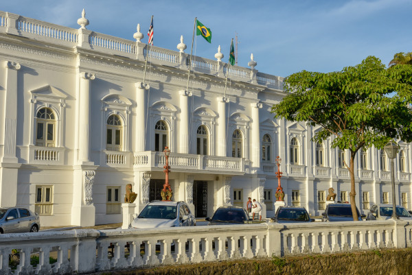 Frente do Palácio dos Leões, sede do governo do Maranhão.