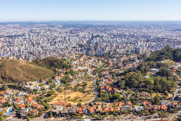 Vista aérea de Belo Horizonte, capital de Minas Gerais. [1]