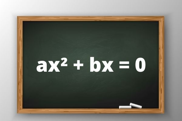 A equação do 2º grau incompleta não apresenta o coeficiente b e/ou o coeficiente c.