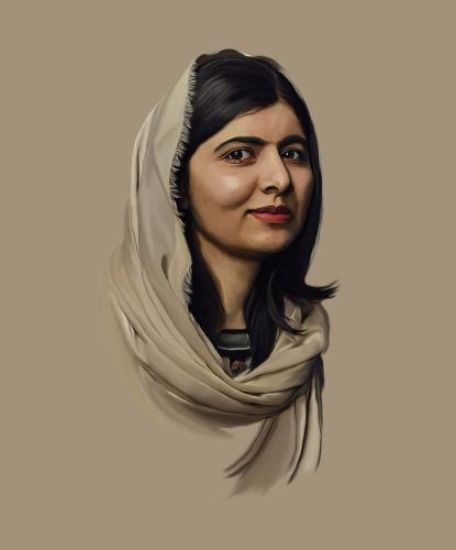 Malala Yousafzai é uma ativista paquistanesa que ganhou reconhecimento por lutar pelo direito das mulheres de estudarem.