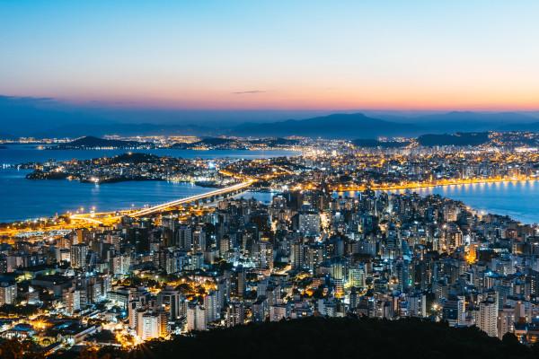 Vista parcial de Florianópolis, capital de Santa Catarina.