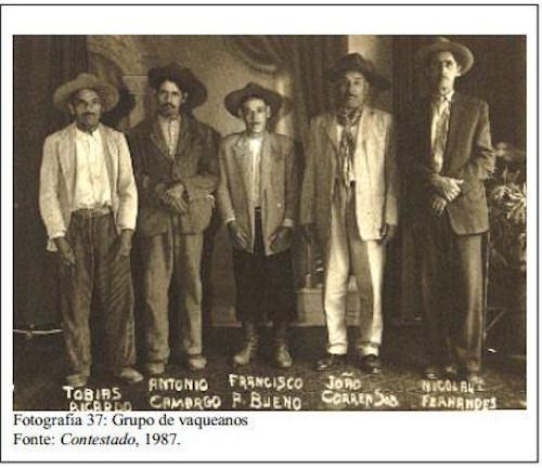 Homens que participaram da Guerra do Contestado.