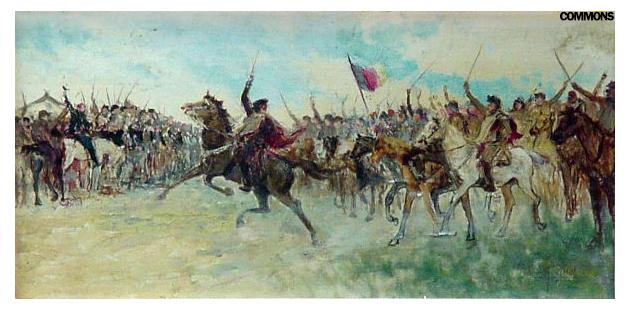Pintura representando a Guerra dos Farrapos