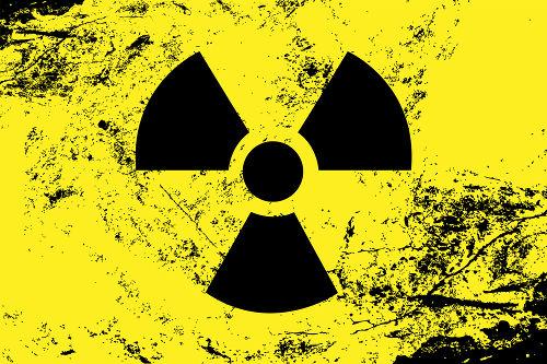 Símbolo utilizado para indicar presença de material radioativo.