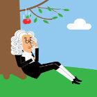 Desenho representando Newton