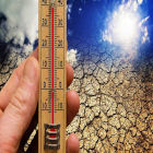 Termômetro representando aquecimento global