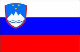 Bandeira da Eslovênia.